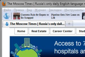 The Moscow Times Firefox Toolbar